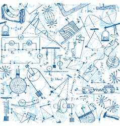 Physics seamless pattern vector image