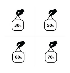 price label set vector image vector image
