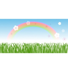 Rainbow on a Meadow vector image