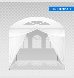 realistic tent template on transparent background vector image