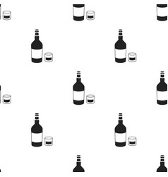 rum icon in black style isolated on white vector image vector image