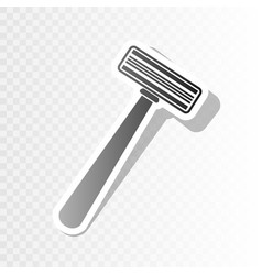 Safety razor sign new year blackish icon vector
