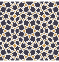 Seamless Islamic Star Line in Yellow And vector image