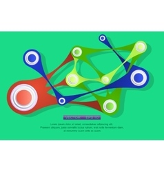 Shiny abstract geometric forms vector image vector image