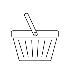 Shopping basket line icon vector