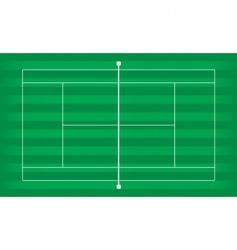 tennis court grass vector image
