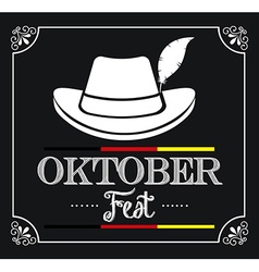 welcome oktoberfest vector image vector image