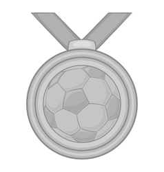 Medal in football icon black monochrome style vector image