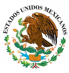 mexican national flag symbol vector image