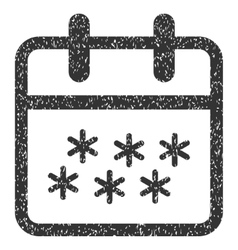 Winter day grainy texture icon vector