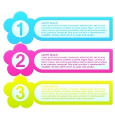 Infographic template colorful list vector image