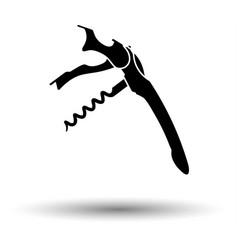 waiter corkscrew icon vector image