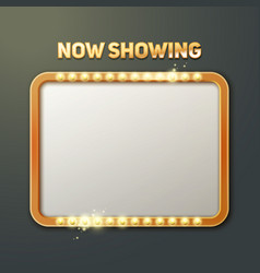 now showing sign vector image