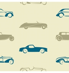 Seamless pattern with retro cars vector