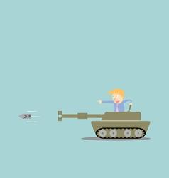 Business artillery fire bullet job vector