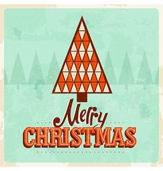 Retro christmas card 2a vector
