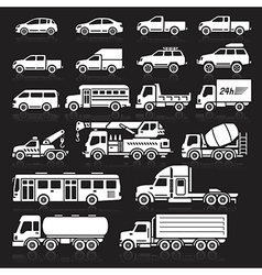 Cars icon black vector