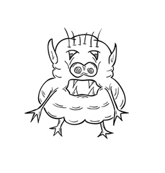 Sketch of the ugly creature vector