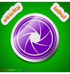 diaphragm icon sign Symbol chic colored sticky vector image