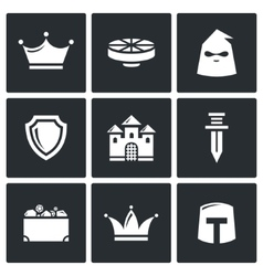 Kingdom icons vector