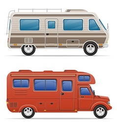 Car mobile home 05 vector