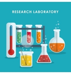 Graphic design of chemical laboratory vector