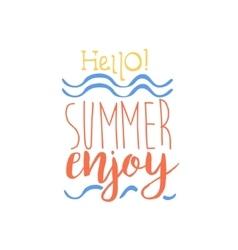 Hello summer colorful ad vector
