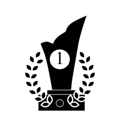 Trophy and prize symbol icon black simple style vector