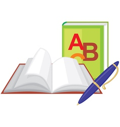 Book and pen vector