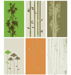 Bamboo elements vector