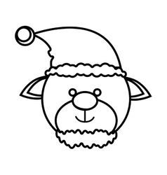 Beer christmas character icon vector
