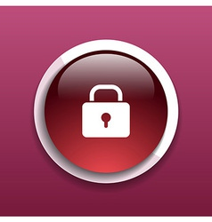 Blue lock icon with protection key password blocke vector image