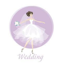 bride wedding dress concept spring pastel color vector image vector image