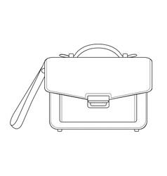 Businessman hand bag Contour vector image vector image