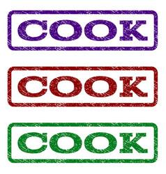 Cook watermark stamp vector