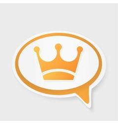 crown speech bubble vector image vector image