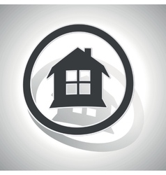 Curved house sign icon vector