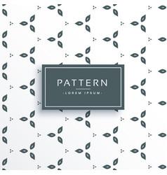 Cute flower pattern design vector
