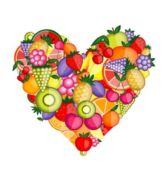 Energy fruit heart shape for your design vector image vector image