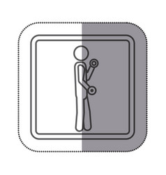 Figure person lifting dumbbells icon vector