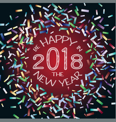 flying christmas confetti happy new year vector image