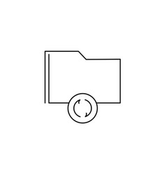Folder sync icon vector