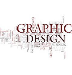 graphic design a tool for business success text vector image vector image