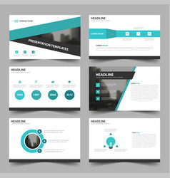 Green triangle abstract presentation templates vector