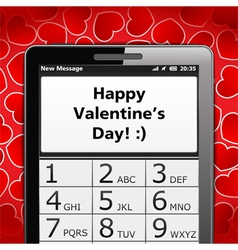 Happy Valentines Day SMS vector image vector image