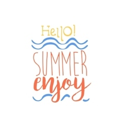 Hello summer colorful ad vector
