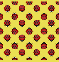 ladybug seamless pattern vector image vector image