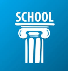 logo education ancient column vector image