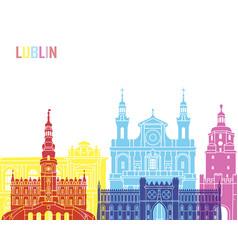Lublin skyline pop vector