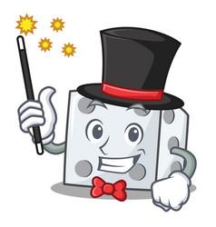 Magician dice character cartoon style vector